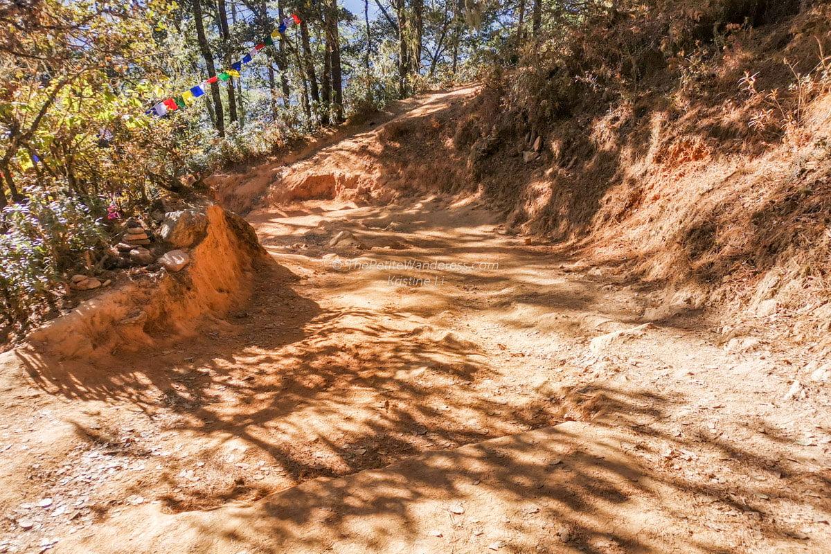 terrain in December | Hike to Tiger's Nest, Bhutan • The Petite Wanderess
