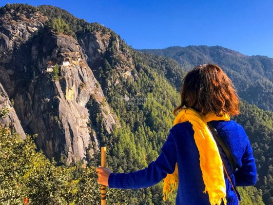 view of Tiger's Nest monastery | Hike to Tiger's Nest, Bhutan • The Petite Wanderess