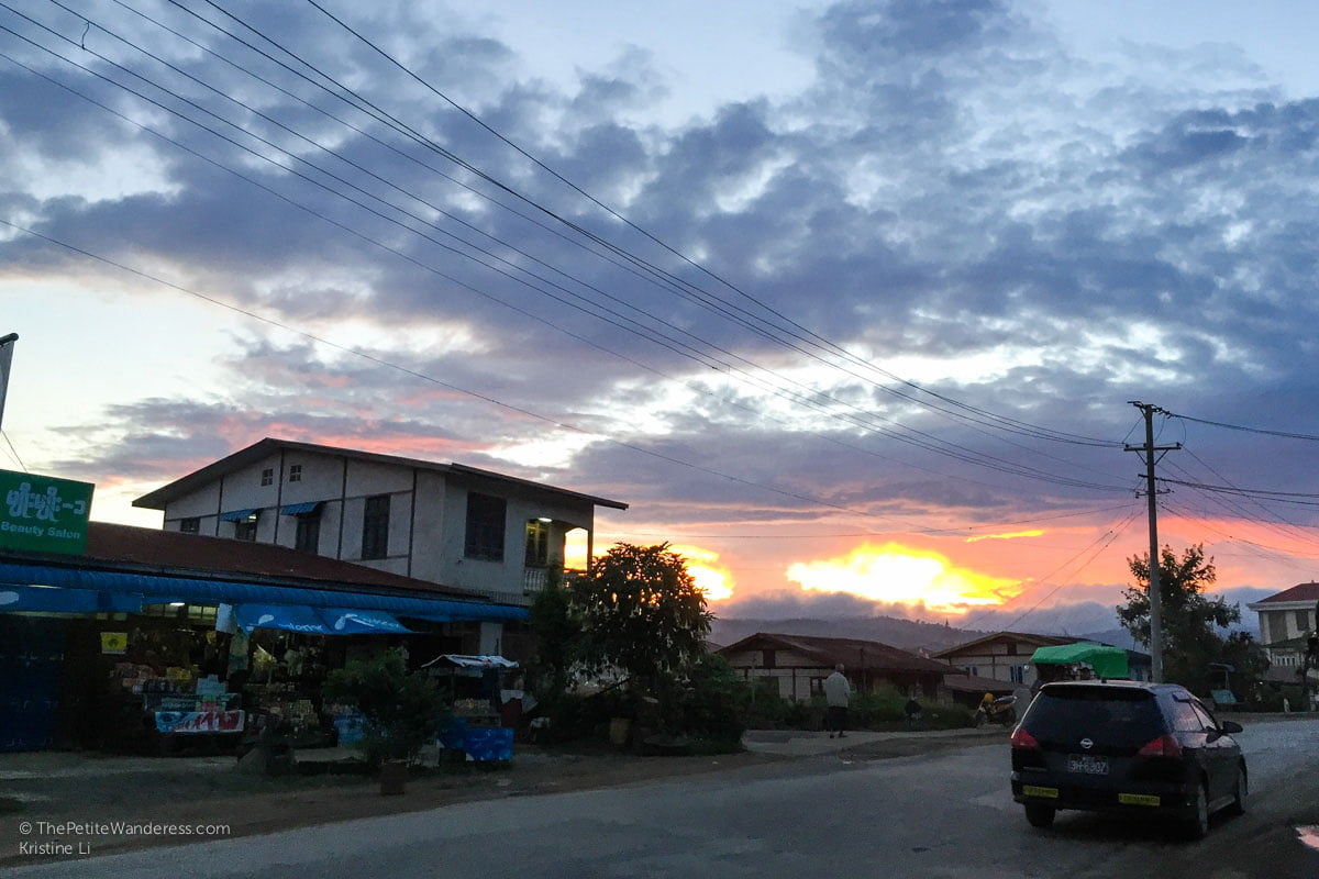 sunset at Aung Ban, Myanmar | Life Lessons Myanmar Gave Me • The Petite Wanderess