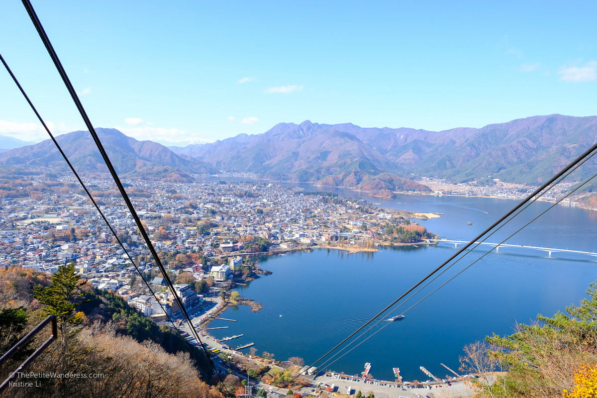 view of lake from ropeway | Things to do in Kawaguchiko, Japan • The Petite Wanderess