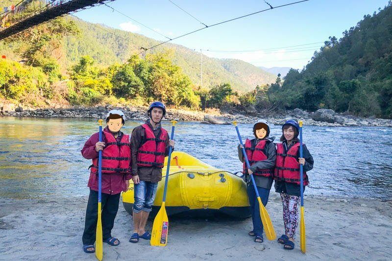 getting ready for rafting | Rafting in Punakha, Bhutan • The Petite Wanderess