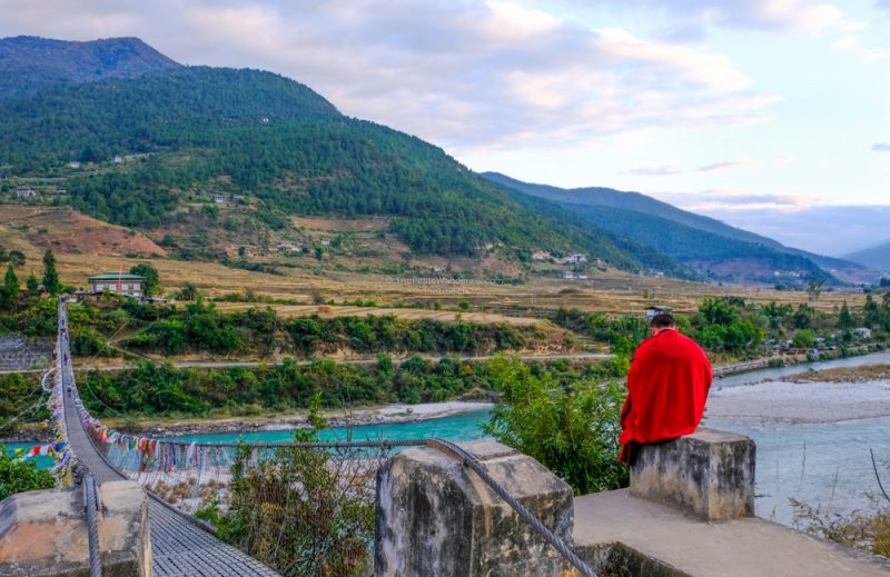 longest suspension bridge in Bhutan • The Petite Wanderess