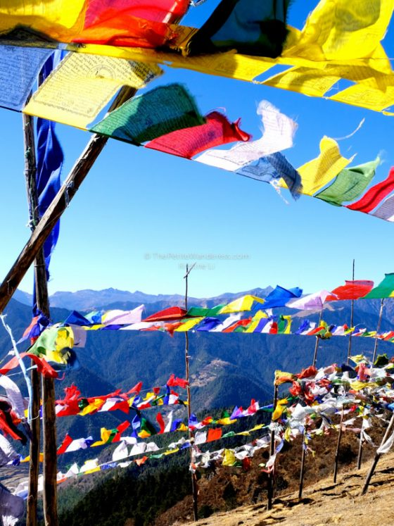 prayer flags, Chele La Pass | Bhutan in December – It Might be the Best Time to Visit Bhutan • The Petite Wanderess