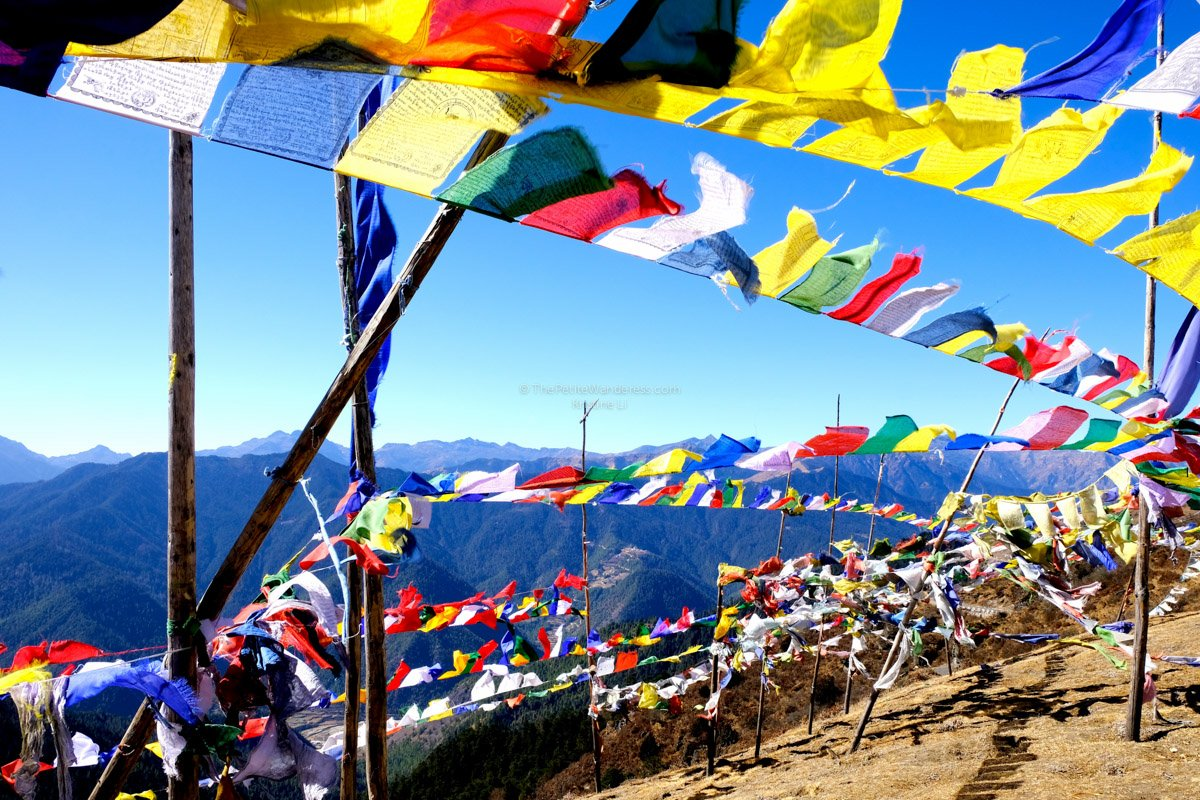 prayer flags | Bhutan in December – It Might be the Best Time to Visit Bhutan • The Petite Wanderess