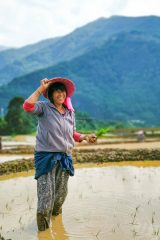 rice farmer | Lessons on Love & Wisdom Learned from Bhutan's People and Culture • The Petite Wanderess
