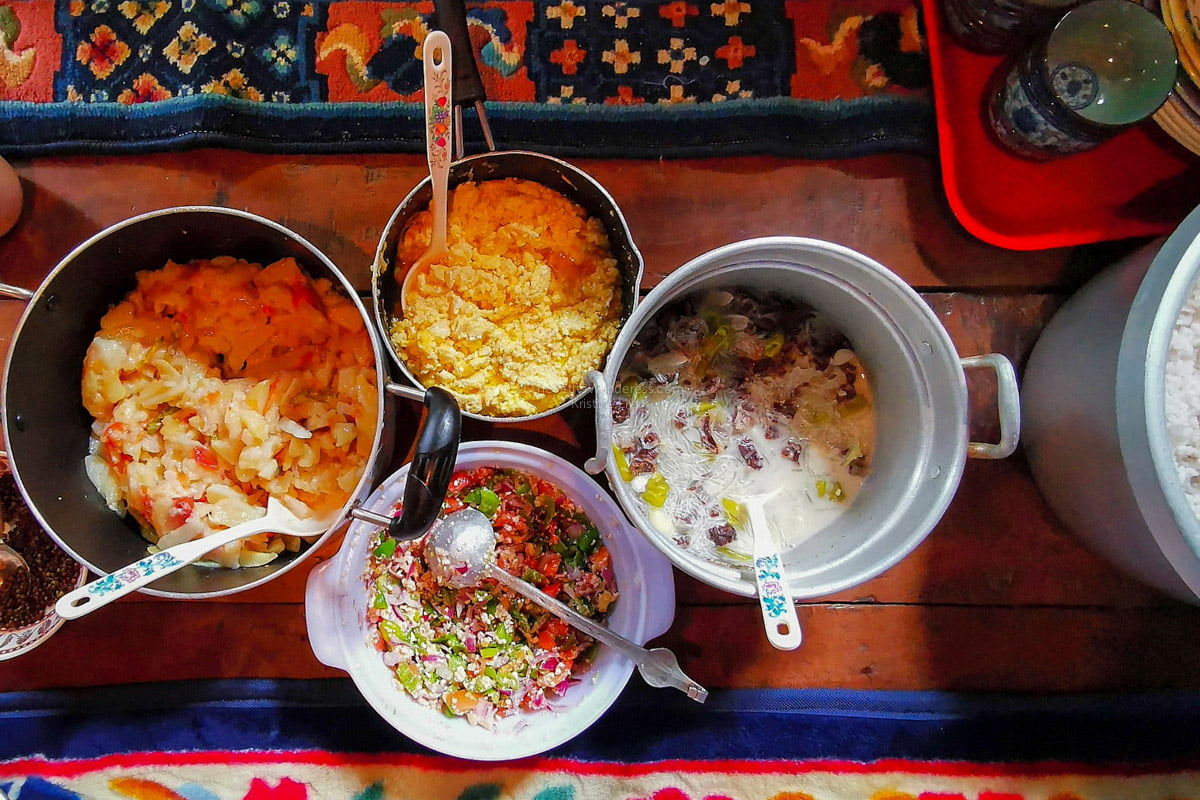 Bhutanese local food | Eastern Bhutan road trip photos • The Petite Wanderess