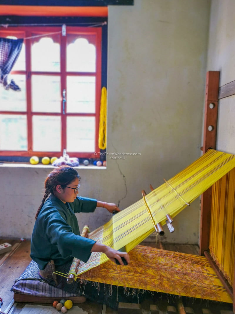 handloom weaver | Eastern Bhutan road trip photos • The Petite Wanderess