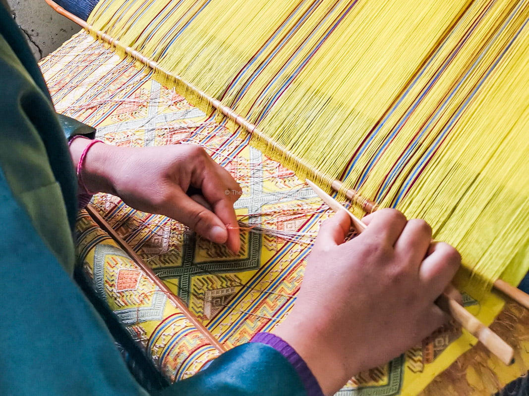hand-weaving | Eastern Bhutan road trip photos • The Petite Wanderess
