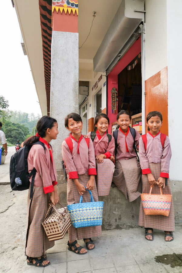 schoolgirls | Eastern Bhutan road trip photos • The Petite Wanderess
