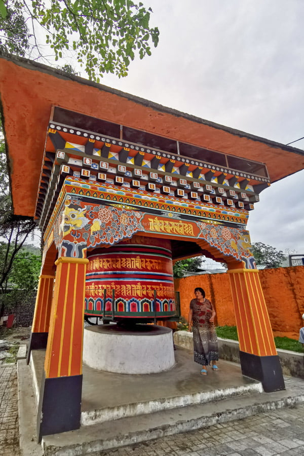 giant prayer wheels | Eastern Bhutan road trip photos • The Petite Wanderess