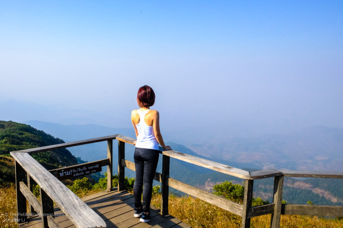 viewpoint of Kew Mae Pan trail | Hiking & Waterfalls at a Day Trip to Doi Inthanon, Chiang Mai • The Petite Wanderess