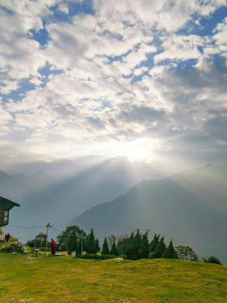 Trongsa sunset | What Makes Neykor Meditation Trip in Bhutan Special •The Petite Wanderess