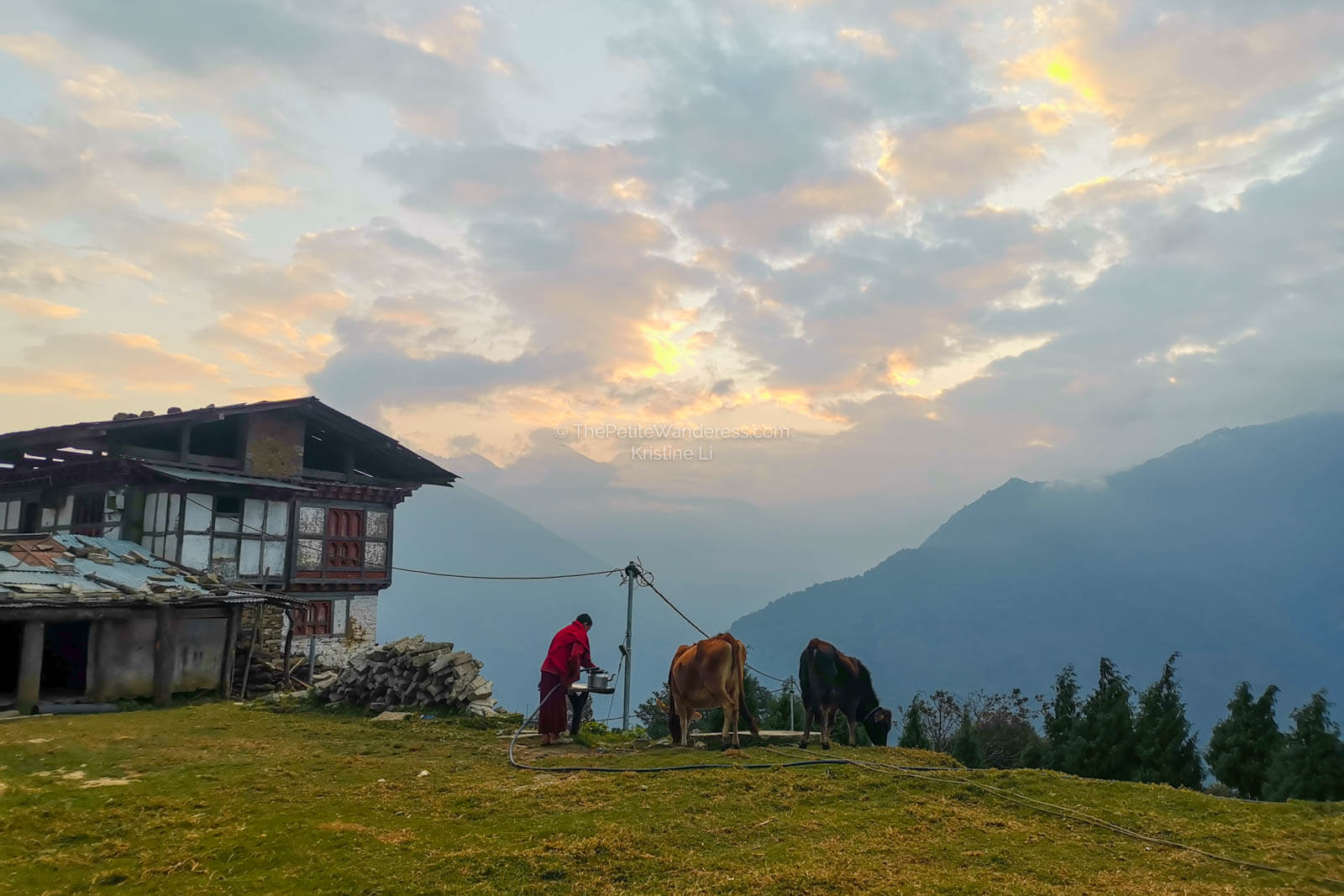 sunset hours, Trongsa   What Makes Neykor Meditation Trip in Bhutan Special •The Petite Wanderess