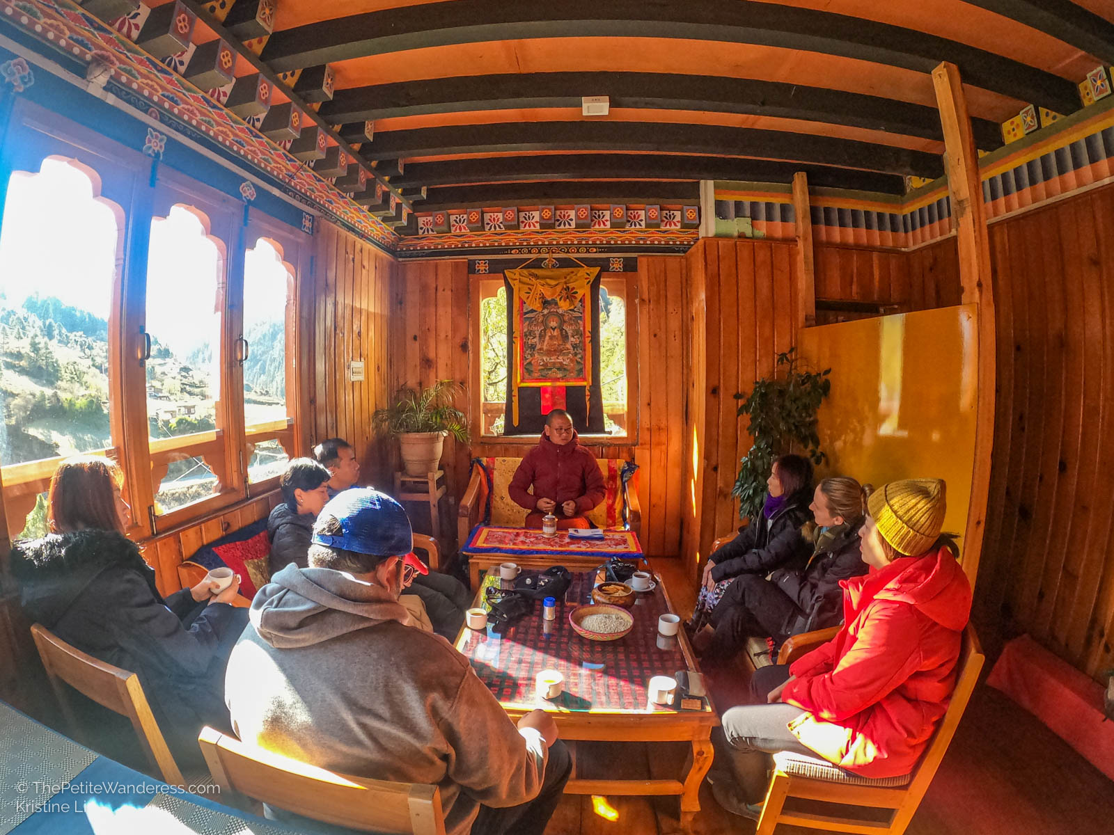 sharing session in cafe   What Makes Neykor Meditation Trip in Bhutan Special •The Petite Wanderess
