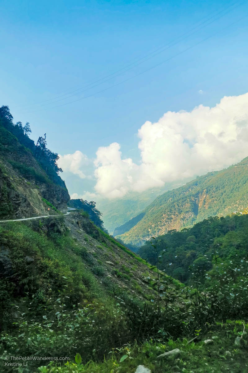 road in Trongsa | What Makes Neykor Meditation Trip in Bhutan Special •The Petite Wanderess