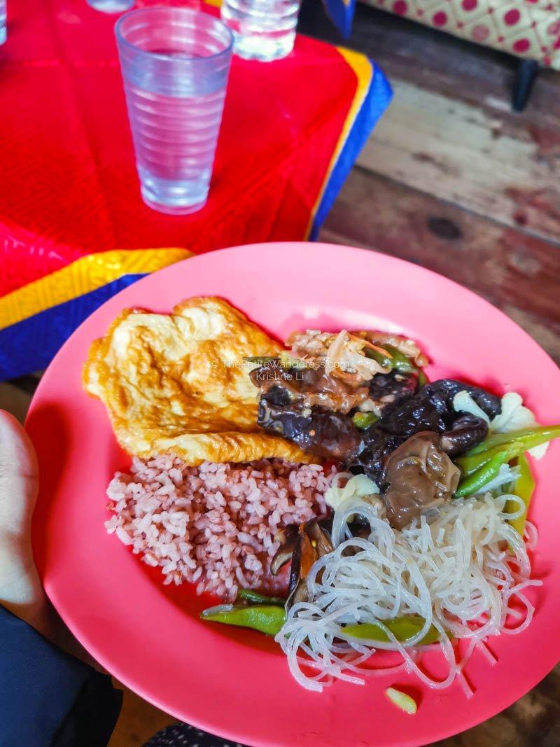 lunch food in Bhutan | What Makes Neykor Meditation Trip in Bhutan Special •The Petite Wanderess