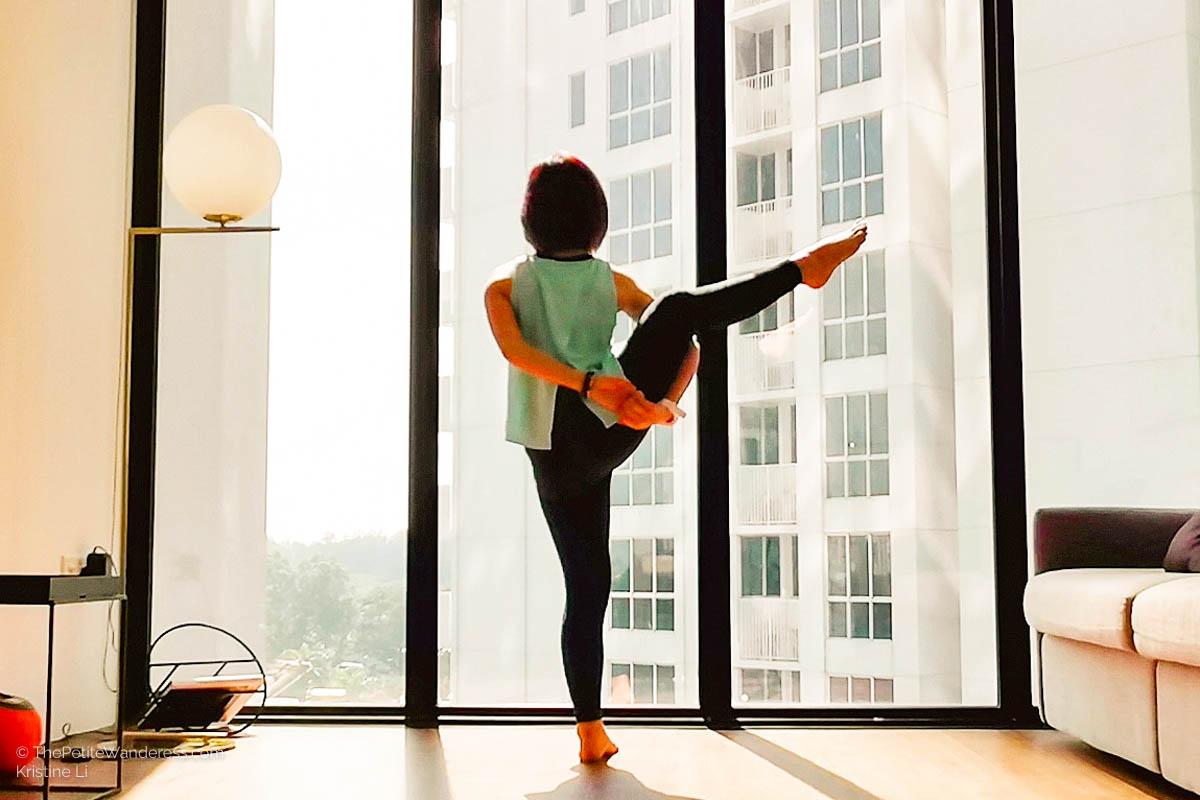 Bird of Paradise yoga pose | How to Boost Immunity at Home to Lower Risks of CoronaVirus • The Petite Wanderess