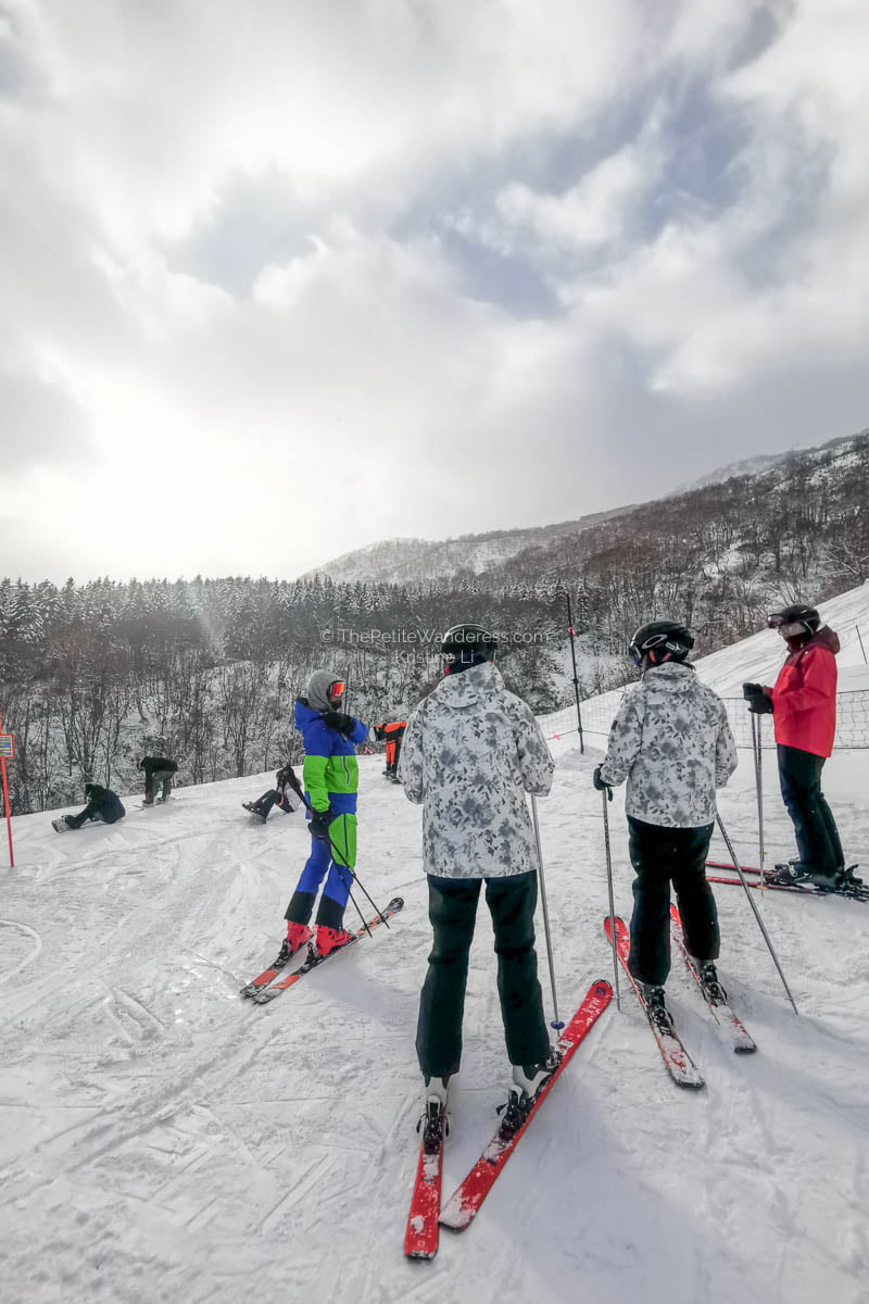 right after getting off chairlift | What to Know for Your Niseko Ski Trip • The Petite Wanderess